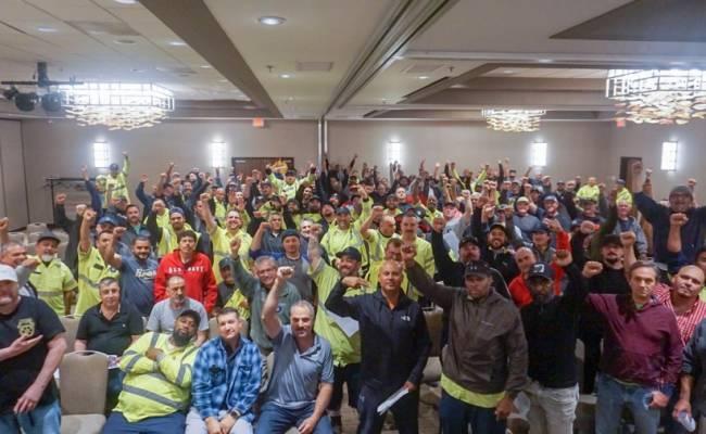 Recology San Mateo Strike Sanction Meeting