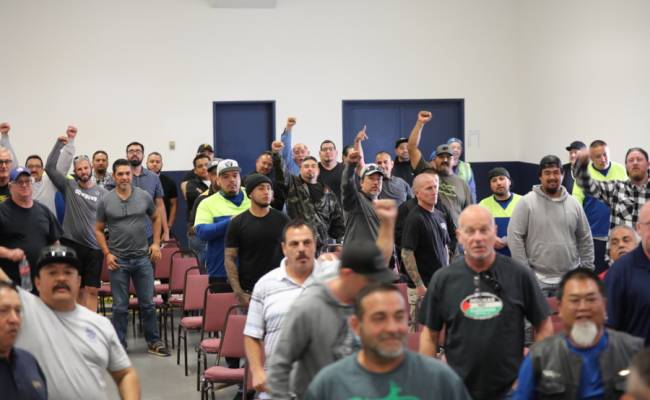Allied Waste Services of Santa Clara members unanimously authorize strike action